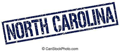 North Carolina blue square stamp