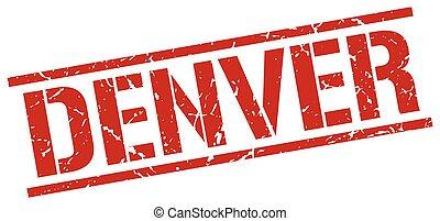 Denver red square stamp