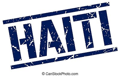 Haiti blue square stamp