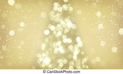 golden christmas tree symbol loop