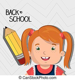 back school student pencil vector illustration graphic