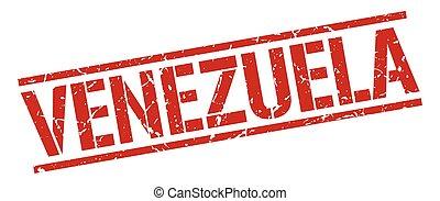 Venezuela red square stamp