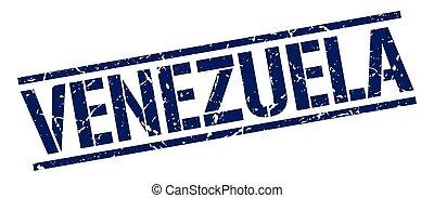 Venezuela blue square stamp