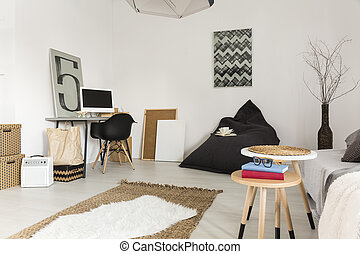Less is more - Shot of a simply designed, minimalist room...