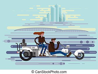 trike, vector illustration for web site and printing