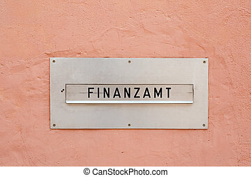 Letter box tax office - The german word for tax office...