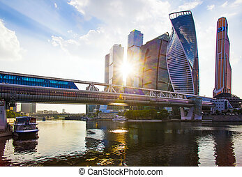 business center Moscow - city and the river Moscow