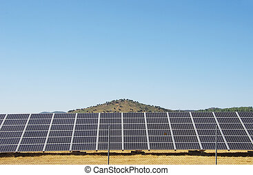 Photovoltaic panels,  alternative electricity source