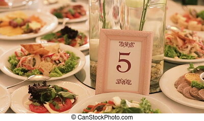 Table number at wedding