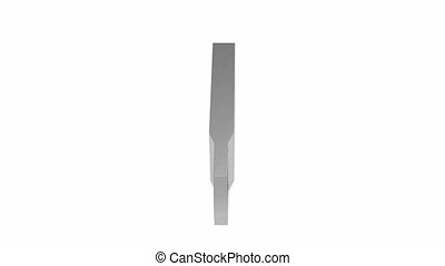 Capless flash drive rotates on white background
