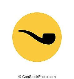 Smoking pipe silhouette