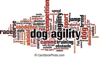Dog agility.eps - Dog agility word cloud concept. Vector...