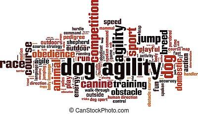 Dog agility.eps - Dog agility word cloud concept. Vector...