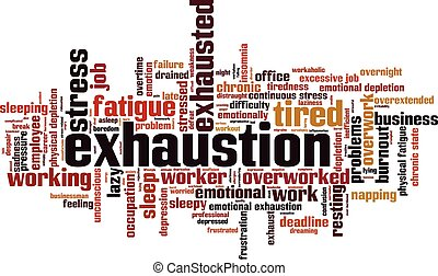 Exhaustion.eps - Exhaustion word cloud concept. Vector...