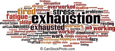 Exhaustion-horizon.eps - Exhaustion word cloud concept....