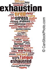 Exhaustion-vertical.eps - Exhaustion word cloud concept....