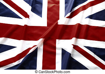 British flag - Closeup of British Union Jack flag