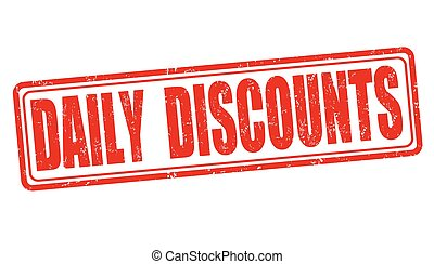 Daily discounts stamp - Daily discounts grunge rubber stamp...