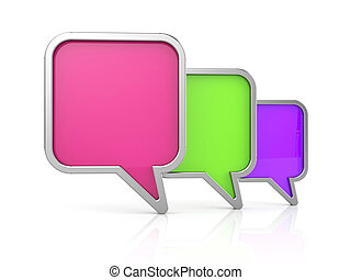Speech bubbles icon. 3d illustration