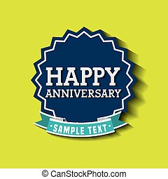 aniversary card icon design, vector illustration eps10