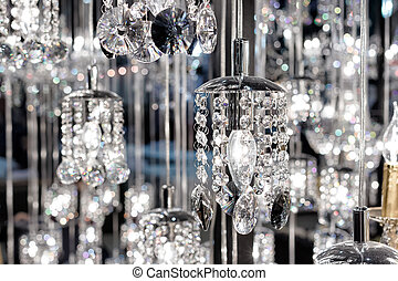 Chrystal chandelier closeup