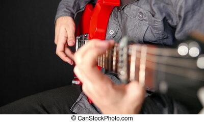 Man Playing Electrical Guitar 2