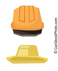 Hard hat and summer hat vector illustration - Hard hat and...