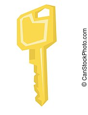 House or car key vector illustration. - Key vector flat...