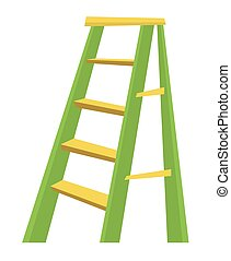 Metallic step ladder vector illustration - Metallic step...