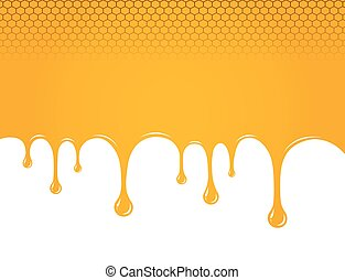 Dripping sweet honey. vector illustration background