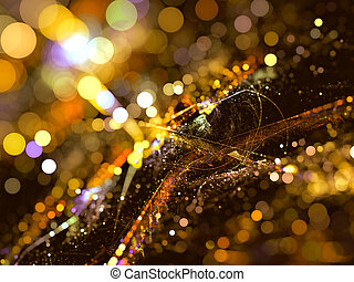 Abstract background of bokeh light digitally generated image...