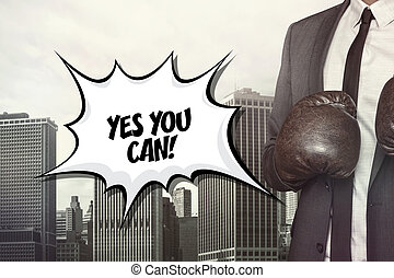 Yes you can text on speech bubble with businessman wearing...