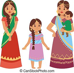 Vector illustration indian people