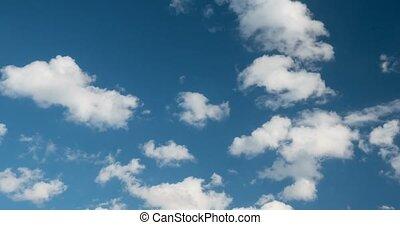 4K, Bewegen, wolkenhimmel, und, himmelsgewölbe