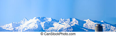 Alps mountains HDR - High dynamic range HDR Cottian alps...
