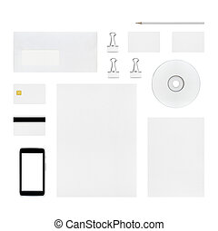 Isolated objects for branding identity - letterhead,...