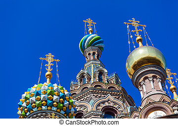 The Church of the Savior on Spilled Blood, Saint Petersburg,...