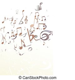 music Abstract background - Vector illustration of retro...