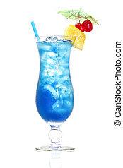 Blue Hawaiian - Stock image of Blue Hawaiian cocktail over...