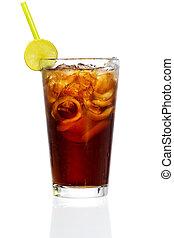 Cuba Libre - Stock image of Cuba Libre Cocktail over white...