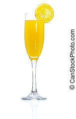 Mimosa - Stock image of Mimosa Cocktail over white...