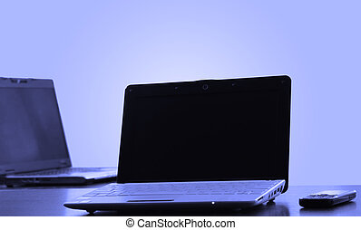 laptops in office