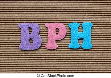 BPH Benign Prostatic Hyperplasia medical concept