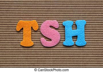 TSH Thyroid-Stimulating Hormone medical concept