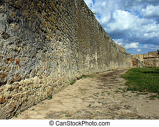 wall of fortress
