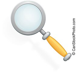 Realistic Magnifying Glass Loupe Icon Search Symbol 3d...