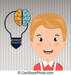 child student idea icon