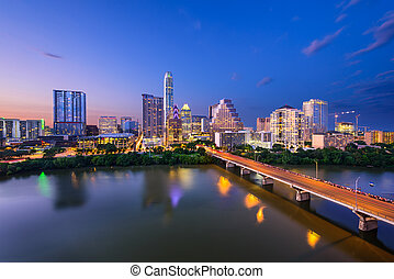 Austin, Texas skyline - Austin, Texas, USA downtown skyline...