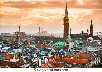 Copenhagen, Denmark Cityscape - Copenhagen, Denmark old city...