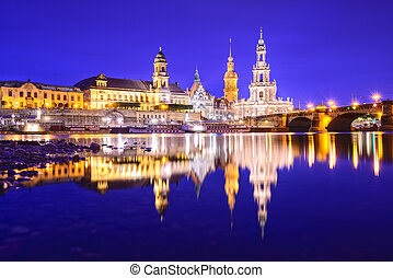 Dresden, Germany Skyline - Dresden, Germany old town skyline...